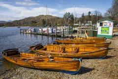 Waterhead Blisko Ambleside w Jeziornym okręgu Fotografia Royalty Free
