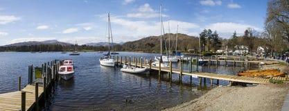 Waterhead Blisko Ambleside w Jeziornym okręgu Zdjęcie Royalty Free