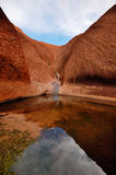 Waterhole at the base of Uluru Royalty Free Stock Images