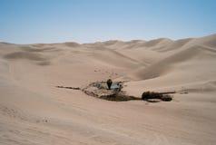 Waterhole en el desierto, Huacachina, Perú fotografía de archivo