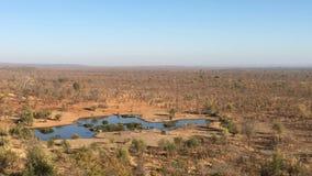 Waterhole för djur nära Victoria Falls Safari Lodge i Zimbabwe Royaltyfria Bilder