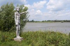 Waterhoogtebeeld av konstnären Marcel Smink Fotografering för Bildbyråer