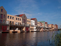 Waterhouses in Vathorst. Stock Photo