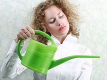 Watering Royalty Free Stock Image