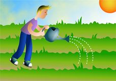 Watering vector illustration
