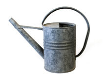 Watering can. Interesting Old fashioned galvanized watering can Royalty Free Stock Photo
