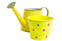 Watering Can and Bucket Stock Photos