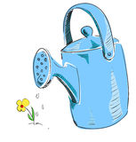 Watering can cartoon icon Stock Photo
