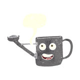 Watering can cartoon with speech bubble Stock Images
