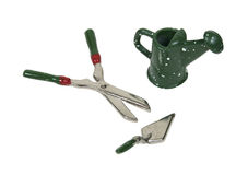 Watering Can and Clippers and Trowel Stock Image