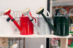 Watering can collection Stock Photos