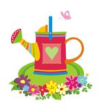 Watering can. Colorful vector illustration against the white background Stock Photo