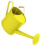 The watering can. 3d generated picture of a yellow watering can Royalty Free Stock Photography