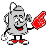 Watering Can with Foam Finger Royalty Free Stock Photos