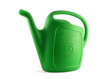 A watering can (Garden 01). Small 5L watering can taken from an angle stock photography