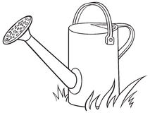 Watering can for the garden. Royalty Free Stock Image