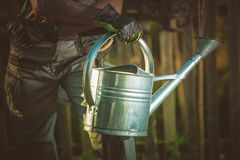 Watering Can Gardening Royalty Free Stock Images