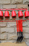 Watering Can And Gardening Tools Royalty Free Stock Photo