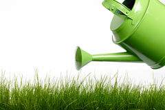 Watering can and grass Stock Photography