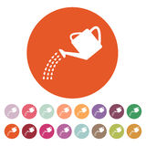 The watering can icon. Irrigation symbol. Flat. Vector illustration. Button Set Royalty Free Stock Photo