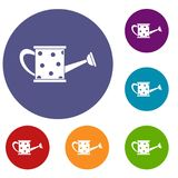Watering can icons set Stock Image