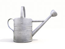 Watering can made of metal Royalty Free Stock Photography