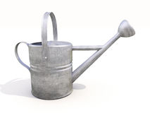Watering can made of metal Stock Image