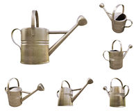 Watering can made of metal Royalty Free Stock Photo
