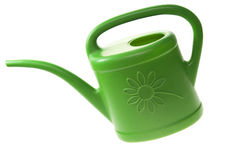 Watering can over white Royalty Free Stock Image