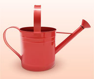 Watering can red Stock Images