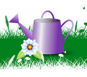 Watering Can Shows Cultivating Agriculture And Irrigation Royalty Free Stock Image