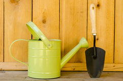 Watering Can and Trowel Stock Images