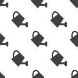 Watering can, vector seamless pattern Royalty Free Stock Photos