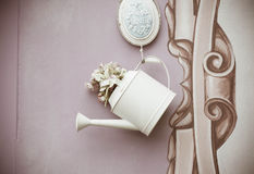 Watering can Vintage design Royalty Free Stock Photos