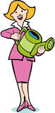Watering Can Woman Royalty Free Stock Photos