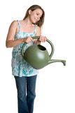 Watering Can Woman Stock Photos