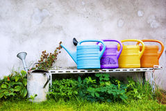 Watering cans Royalty Free Stock Image