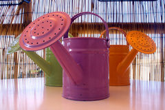 Watering cans.  Stock Photos
