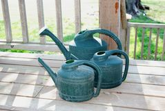 Watering cans Royalty Free Stock Photo