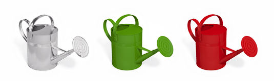 Watering cans. Isolated on white background with clipping paths Royalty Free Illustration