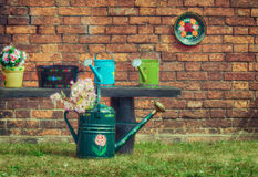 Watering cans Stock Image