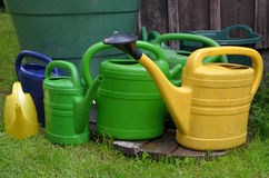Watering cans garden water Royalty Free Stock Images