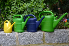 Watering cans garden water Royalty Free Stock Photo
