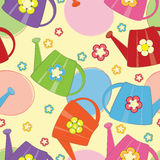 Watering cans seamless pattern Royalty Free Stock Image