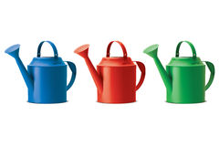 Watering cans set. . Vector Royalty Free Stock Photos