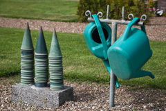 Watering cans and vases Stock Photography