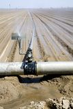Watering the farm. Water distribution system on the farm Royalty Free Stock Photography