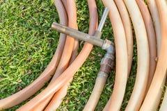 Watering garden hose Royalty Free Stock Photos