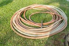 Watering garden hose Stock Images