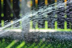 Watering gardens Stock Photography
